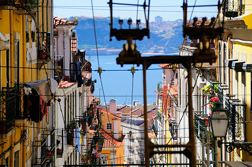 Power lines in Lisbon